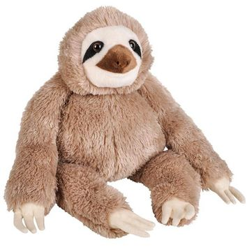 Huge 14 Inch Stuffed Sloth Zoo Animal Plush Domain Collection