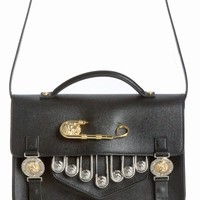 J.W. ANDERSON X VERSUS VERSACE EMBELLISHED MEDIUM BAG - WOMEN - JUST IN - J.W. ANDERSON X VERSUS VERSACE