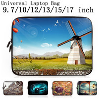 Neoprene Laptop Sleeve Case Cover For 9.7 10 12 13 15 17 17.3 inch Notebook Netbook Mini PC Capa Para Macbook Air / Pro Retina