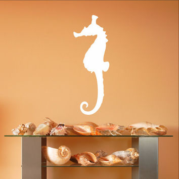 Seahorse Style B Vinyl Wall Decal 22559