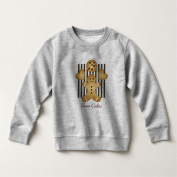 Personalized Cute Team Cookie Cartoon Stripes Sweatshirt
