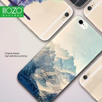 Landscape Scenery Case For Iphone 7 6 6S Plus Mountain Trees Sea Deer Cat Nature View Hard Back Case cover For Iphone7 7plus