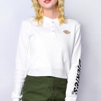 Long Sleeve Henley Thermal Top by Dickies Girl