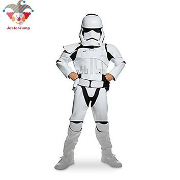 Cool New Child Boy Deluxe Star Wars The Force Awakens Storm Troopers Cosplay Fancy Dress Kids Halloween Carnival Party CostumeAT_93_12