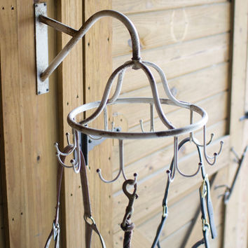 Metal Rotating Wall Coat Rack
