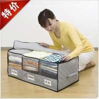 Bamboo Charcoal Storage Organizer with Window classification finishing box For clothes Bra Underwear Necktie Sock bedding Holder