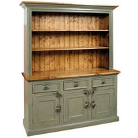 French Country 3 Door Open Stepback Cupboard | Three Door Open Cupboard