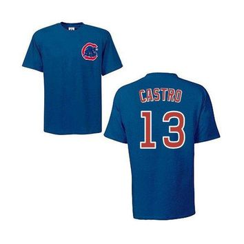 Chicago Cubs Starlin Castro Youth Player T-Shirt