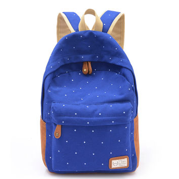 Korean Canvas Printing Backpack Women School Bags for Teenage Girls Cute Bookbags Vintage Laptop Backpacks Female DF414