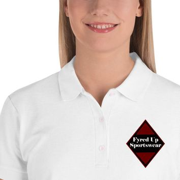 Fyred up Tournament Embroidered Women's Polo Shirt