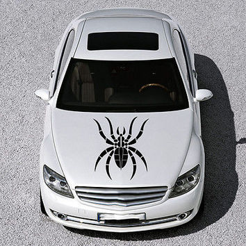 EVIL SPIDER ANIMAL DESIGN HOOD CAR VINYL STICKER DECALS ART MURALS SV1160