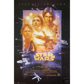 STAR WARS IV MOVIE POSTER - Episode 4 - NEW