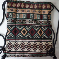 Gypsy  Boho  Hippie Aztec Backpack Female