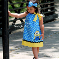 Super Adorable Despicable me Minion inspired pillowcase dress