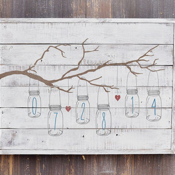 Rustic Wedding Decor, Wedding Gift, Bridal Shower Gift, Barn Wedding Decor, White Washed Plank Wood Sign,  Anniversary Gift
