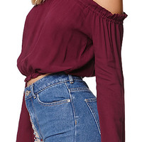 LA Hearts Smocked Cold Shoulder Top at PacSun.com
