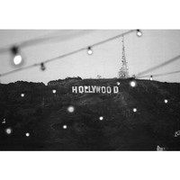 Hollywood Sign Strip Art Print