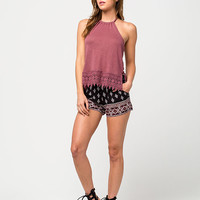 OTHERS FOLLOW Braided Strap Womens Halter Top | Knit Tops & Tees