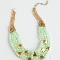 Put a Bling On It Necklace in Mint