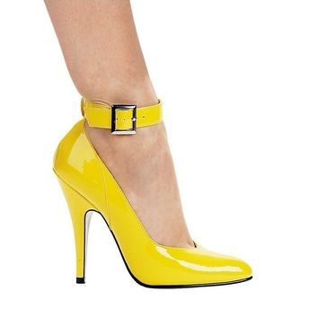 Ellie Shoes E-8221 5 Heel Pump With Ankle Strap