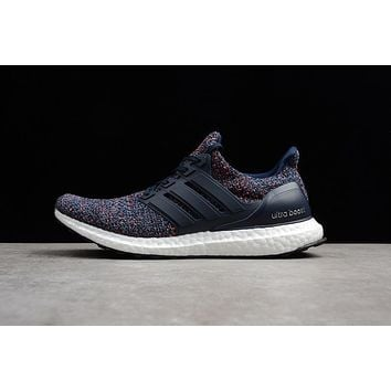 29aedce7be3af Adidas Ultra Boost Ub 4 0 Black Blue Red Bb6165 Men Sneaker