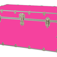 Happy Camper Neon Pink Toy Trunk