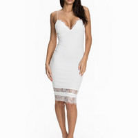 Lace Pannel Midi Bodycon Dress, Ax Paris