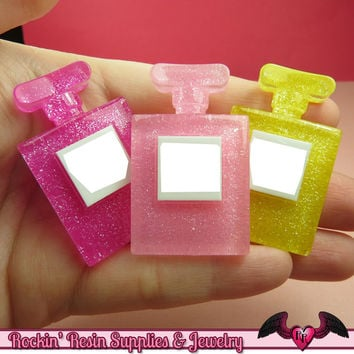 3 pcs PERFUME BOTTLE Large Girly Cellphone Decoden Kawaii Cabochons