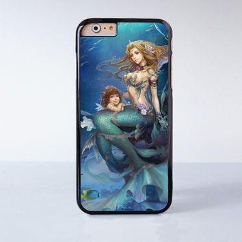 Little Mermaid Disney Princess Plastic Case Cover for Apple iPhone 6 6 Plus 4 4s 5 5s 5c