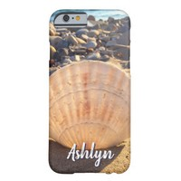 California sandy beach seashell photo custom name barely there iPhone 6 case