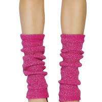 Hot Pink and Silver Leg Warmer