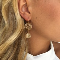 Golden Spotlight Earrings