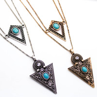 Boho triangle layer neckalce
