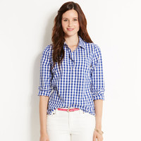 Vineyard Vines Ladies Telin Medium Gingham Button Down Shirt