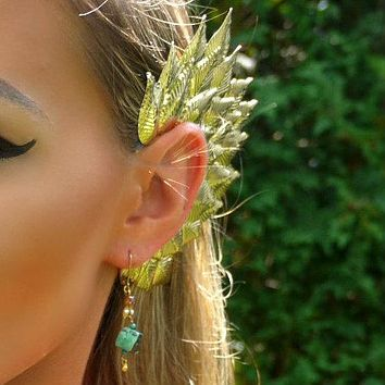 Gold Silver Metallic Elf Fairy Ear Cuff Cosplay Dance Costume Halloween