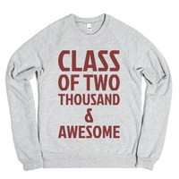 Class of Two Thousand & Awesome-Unisex Heather Grey Sweatshirt