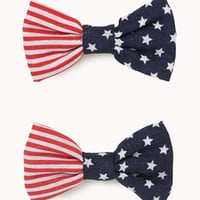 Star-Spangled Bow Hair Clips