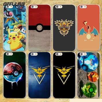 Pokemone Pokeball Case Cover for Apple iPhone SE 5s 7 7Plus 6 6s Plus 5 4s