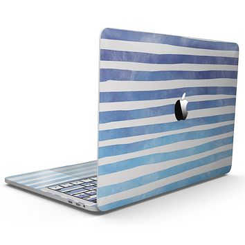 Blue WaterColor Ombre Stripes - MacBook Pro with Touch Bar Skin Kit