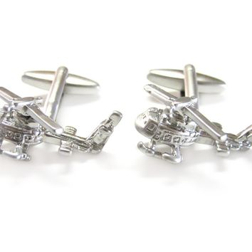 Huey Helicopter Airforce Cufflinks