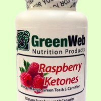 Green Web Raspberry Ketones 500 mg, Ultra Weight Loss Supplement, with African Mango, Green Tea, and L-Carnitine, 60 capsules
