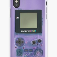 'Classic transparent purple mini video games' iPhone Case/Skin by Galih Sanjaya Kusuma wiwaha