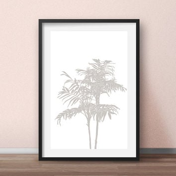 Palm print, Palm tree print — Palm tree printable artwork — Tropical plants art, Palm tree wall art, Tropical poster, Palm tree wall decor