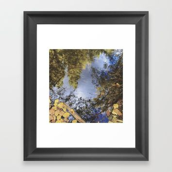 Forest reflections. Retro autumn Framed Art Print by Guido Montañés