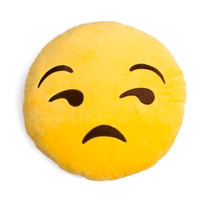 Unamused Emoji Pillow