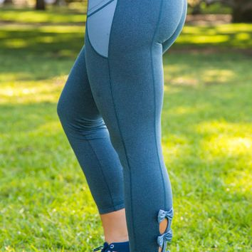 Jadelynn Brooke: Bow Back Leggings {Navy}