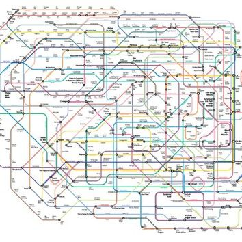The New Broadway Musical History Subway Map