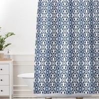 Lisa Argyropoulos Blue Jewels Shower Curtain And Mat