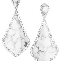 Kendra Scott Alexis Earrings- White Howlite