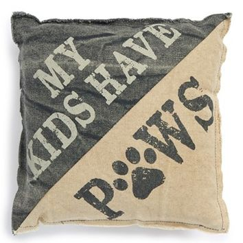 Primitives by Kathy 'My Kids Have Paws' Pillow